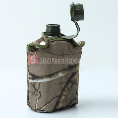 Water Bottle Camouflage US Camping Hiking Army Military Outdoor Hiking Sports
