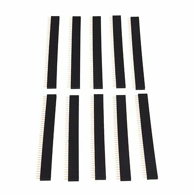 10 Pcs 1x40 Pin 2.54mm Pitch Straight Single Row PCB Female Pin Headers ET