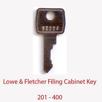 Lowe & Fletcher Replacement Filing Cabinet Key 201 - 400