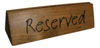 10x Reserved Table Sign Wooden 45x150x45mm Bar Restaurant Tableware 3mm Groove