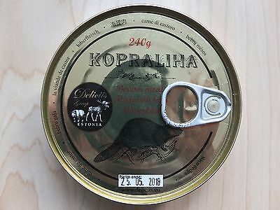 Canned Real BEAVER Meat 240 gram / 8,47 oz HIGH QUALITY DELICACY Made in EU