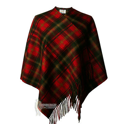 Edinburgh - Soft & Warm Lambswool Mini Or Girls Cape - Dark Maple