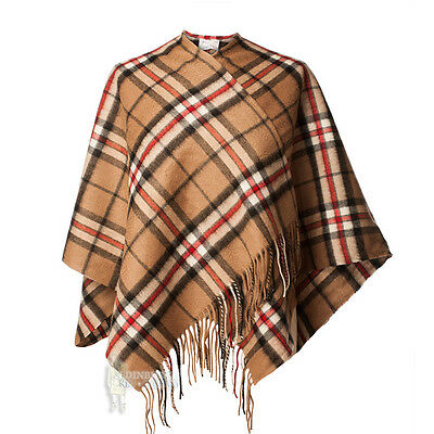 Edinburgh - Soft & Warm Lambswool Mini Or Girls Cape - Thomson Camel