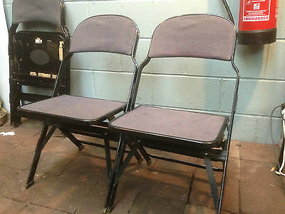 Vintage Metal Foldable Chairs / Cinema Seats/ Retro Bench (FREE UK Delivery)