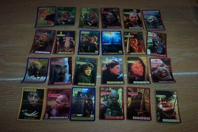 Lord Of The Rings Set Of 24 Lenticular Cards By Kelloggs (German)