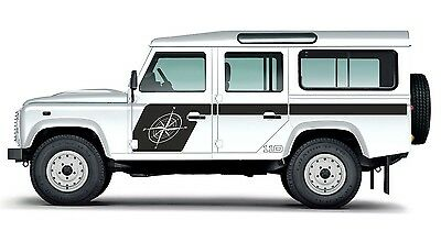 LAND ROVER DEFENDER 110  Aftermarket COMPASS DECAL Sticker SET