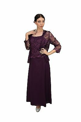 TheDressOutlet Long Mother of the Bride Dresses Plus Size with Jacket Formal