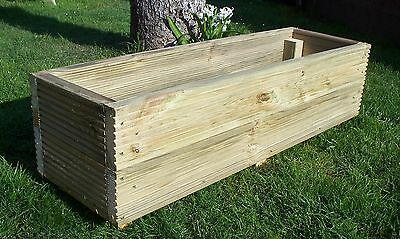 Large Decking Planters Wood Garden Planters Wood Trough Handmade