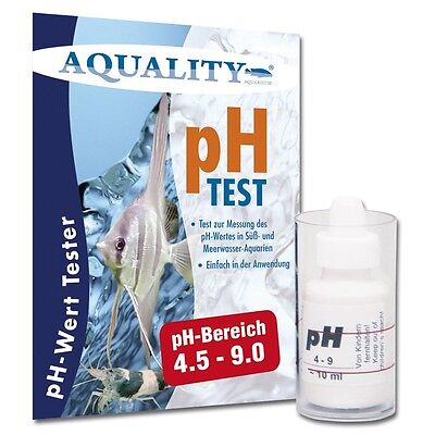 (49,90€/100ml) AQUALITY pH Test Wassertest Tropfentest Aquarium & Teich 10ml