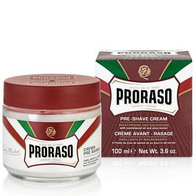 Proraso Pre and Post Shave Cream Sandalwood & Shea Butter Aftershave 100ml