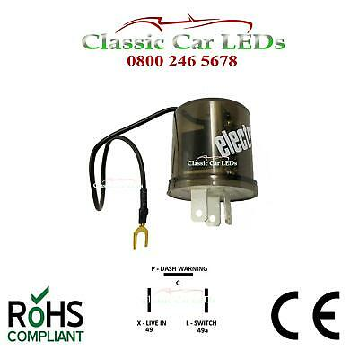 12V ELECTRONIC INDICATOR FLASHER RELAY POSITIVE EARTH GROUND 2 or 3 PIN OPTIONS