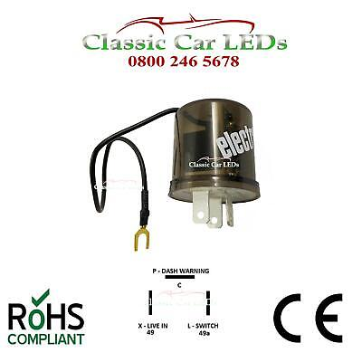 6V Electronic Indicator Flasher Relay Classic Car With Oe Click X L P 2 / 3 Pin