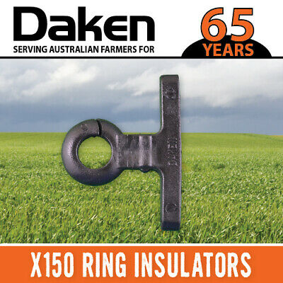 Ring Insulator 150 Timber Wood Post Nail Screw On Electric Fence