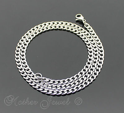 60Cm Silver 316L Stainless Steel 4.5Mm Curb Chain Mens Womens Unisex Necklace