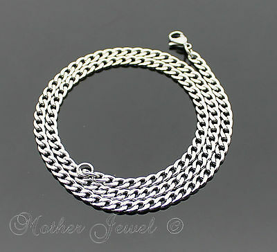 50Cm Silver 316L Stainless Steel 4.5Mm Curb Chain Mens Womens Unisex Necklace