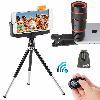 EEEKit for Phone,Universal Zoom Detachable Clip-on Telescope Lens+Tripod Stand