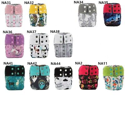 3 U PICK Newborn AIO Cloth Diapers Nappy Charcoal Insert Night Washable Resuable