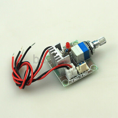 LM317 3V-15V Linear Voltage Regulator Board Fan Speed control with Switch