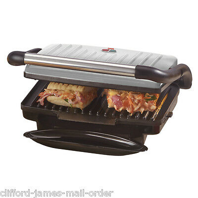Cooks Professional 1000w Silver 3-in-1 Panini Press Griddle Grill Inc Drip Tray
