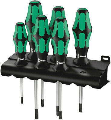 Wera 028062 6 Piece Kraftform 367 Ergonomic Torx/TRX Tip Screwdriver Set T10-T40