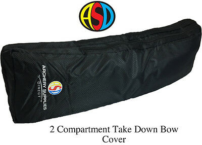 ASD Recurve Take Down Bow Cover Case W/ 2 Compartments