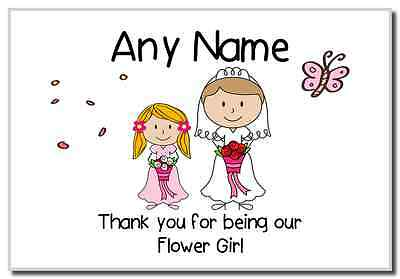 Thank You Flower Girl  Personalised Magnet