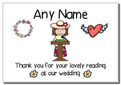 Thank You For Doing A Reading At Our Wedding Woman  Personalised Magnet