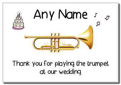 Thank You For Playing The Trumpet At Our Wedding  Personalised Magnet