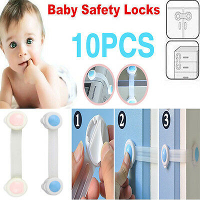 10 pcs Child Kids Baby Security Adhesive Lock for Cabinet Door Drawer Cupboard
