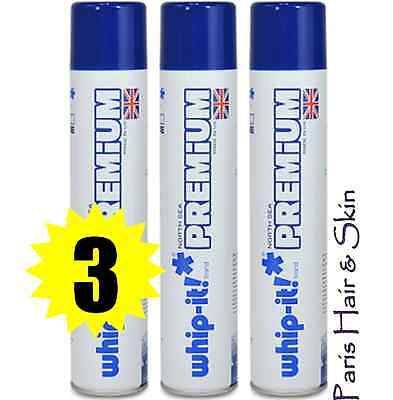 Whip-it! Premium 3 Cans 400ml World's Purest Butane North Sea Zero Impurity