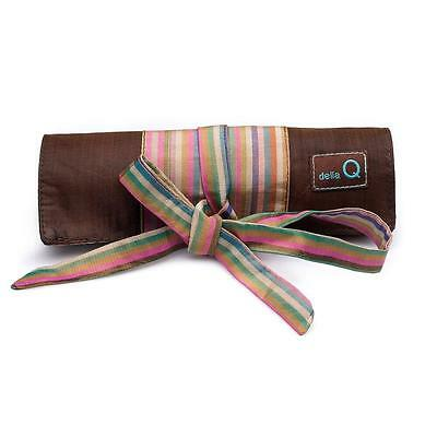 Della Q Brown Lily Crochet Roll Case 168-2 16 Numbered Pocket