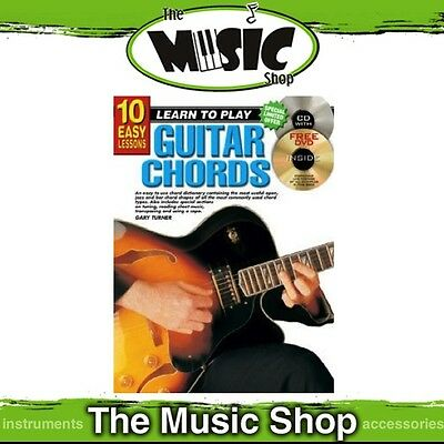 New 10 Easy Lessons Learn to Play Guitar Chords Music Book with CD & DVD