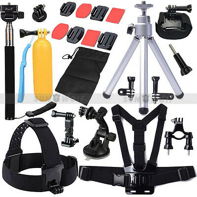 Head Chest Mount Floating Monopod Pole Accessories Set Kit For Go Pro Hero 2 3 4