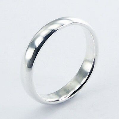 Mens ring silver ring 925 sterling band 4mm wide 7us 8us 9us 10us 11us 12us new