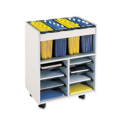 "File Cart,w/Storage Bins,21-1/2""x14-1/2""x26-1/4"",Gray SAF5390GR"