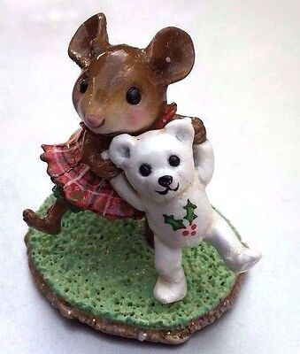 Wee Forest Folk M-375 Dancing Bear- Christmas Special - SIGNED ! Free SAME DAY