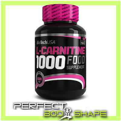 BioTech USA L-CARNITINE 1000 30/60 TABS FAT BURNER WEIGHT LOSS PURE CARNITINE
