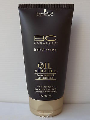 SCHWARZKOPF Bc Bonacure OIL MIRACLE Baume Scintillant  150ml NEUF Gold Shimmer