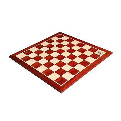 "USCF Sales Padauk & Maple Wooden Chess Board - 2.25"" With Logo"