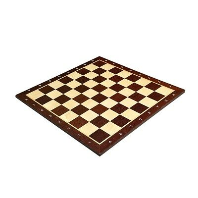 """USCF Sales African Palisander & Maple Wooden Chess Board - 2.0"""" With Notation"""