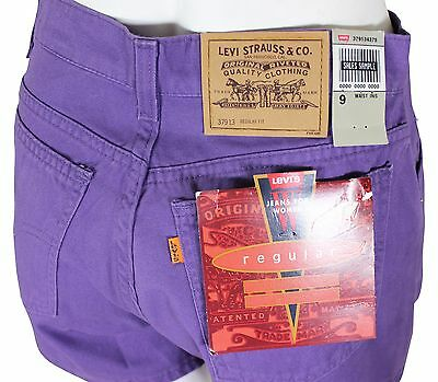 NEW VTG 90s LEVIS 913 Relaxed Fit JEAN SHORTS High Waist Size 9 Purple NWT NOS