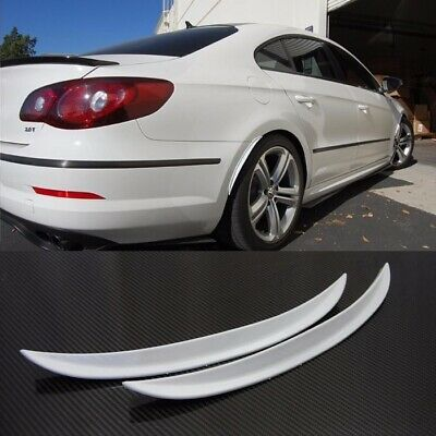 "1 Pair 10/"" Carbon Texture  Diffuser Fender Flares Lip For Honda Wheel Wall Panel"