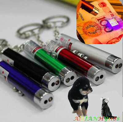 New Small Mini Red Laser Pointer Pen LED w/ Money Detector Child Pet Cat Toy Ahy