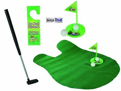 PUTT & FLUSH - NOVELTY TOILET GOLF, GREAT 4 BACHELOR PAD, Christmas Gift, Boys