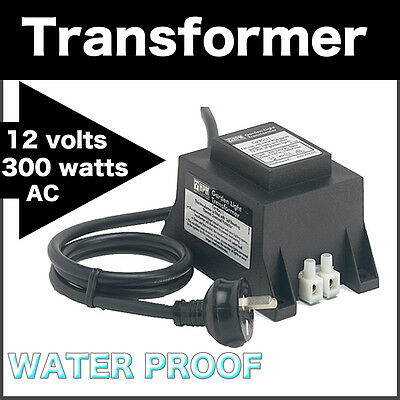 12 Volt 300 Watts AC Transformer Water Proof LED Lights Electrical Appliances