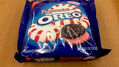 OREO PEPPERMINT Creme Chocolate Sandwich Cookies Nabisco Limited Edition 10.7oz