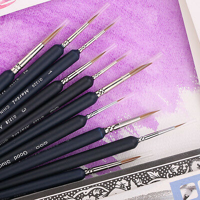 10pcs Marie's Weasel Liner Brush Round Paint Brush Art Supplies Optional Drawing