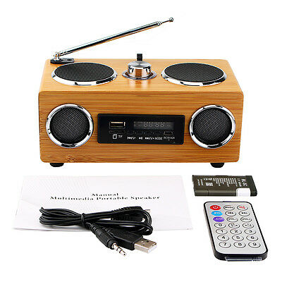 Multimedia Speaker Super Bass Stereo FM Radio/MP3 player with Remote Control