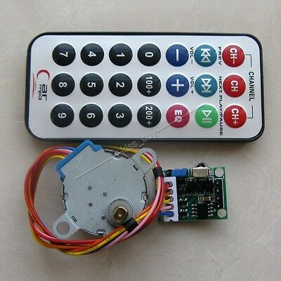 DC 5v 4-phase 5-wire Stepper Motor+Driver Board+Remote Control Wireless RC