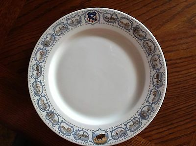 Union Pacific 'overland' Dinner Plate